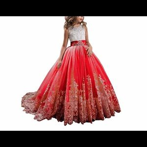 Girls party ball gown